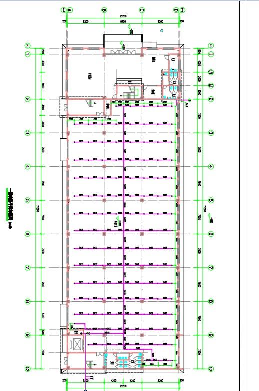 赤壁市粤港湾厂房喷淋设计图